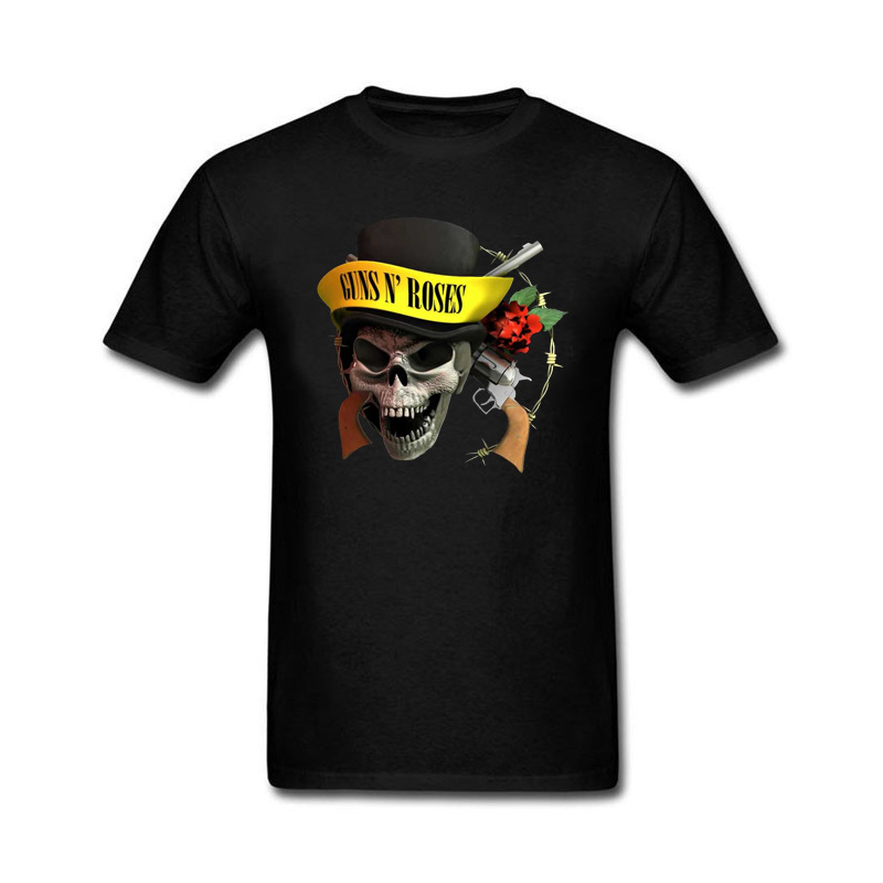 2017 Fashion Summer Style guns n roses Cotton Funny T Shirt for men