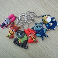 New Cartoon Animal Key Holder Zootopia key chains Figures Keychain Ring