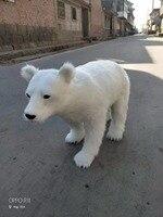 Огромный моделирование полярный медведь модель игрушки пластик и мех большой белый полярный медведь Игрушка реквизит, украшения подарок о