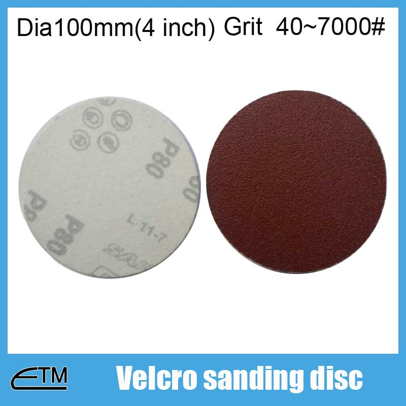 100pcs Hook And Loop Sanding Discs For Metal Polishing Dia100mm(4 Inch) Grit 40~7000# TF004