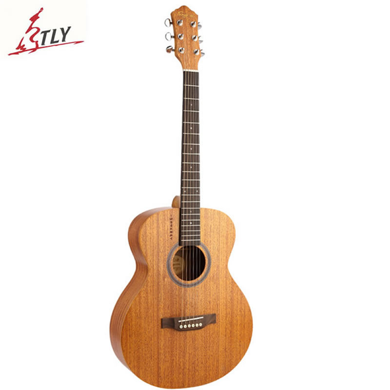 New SAYSN 40 High Quality Mahogany Panel Rosewood Fingerboard & Back Acoustic Folk Guitar Burlywood Guitarra for Music Lovers high quality custom shop lp jazz hollow body electric guitar vibrato system rosewood fingerboard mahogany body guitar