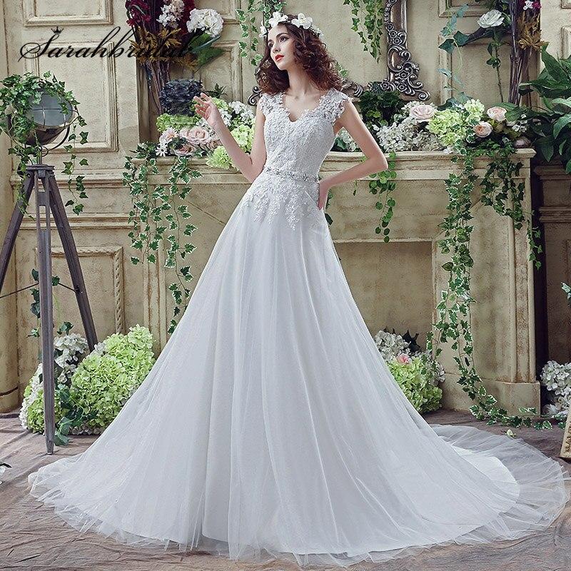 Romantic Lace Appliques Wedding Dresses With Beading Plus