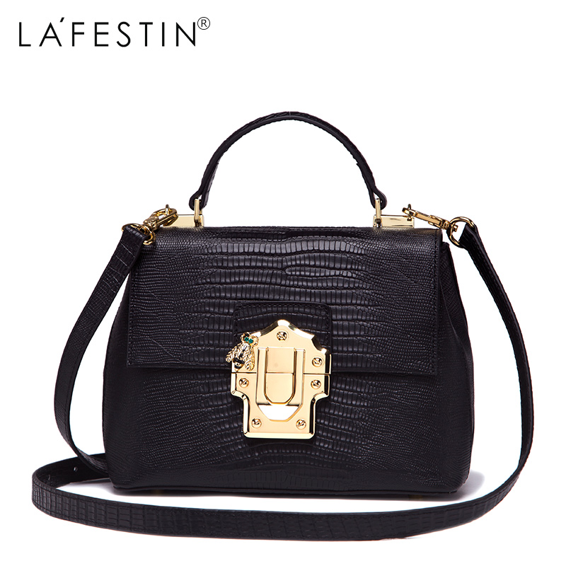 LAFESTIN Famous Doctor Handbags Women Designer Real Leather bags Shoulder Luxury String Totes Multifunction brands Bag bolsa lafestin luxury shoulder women handbag genuine leather bag 2017 fashion designer totes bags brands women bag bolsa female
