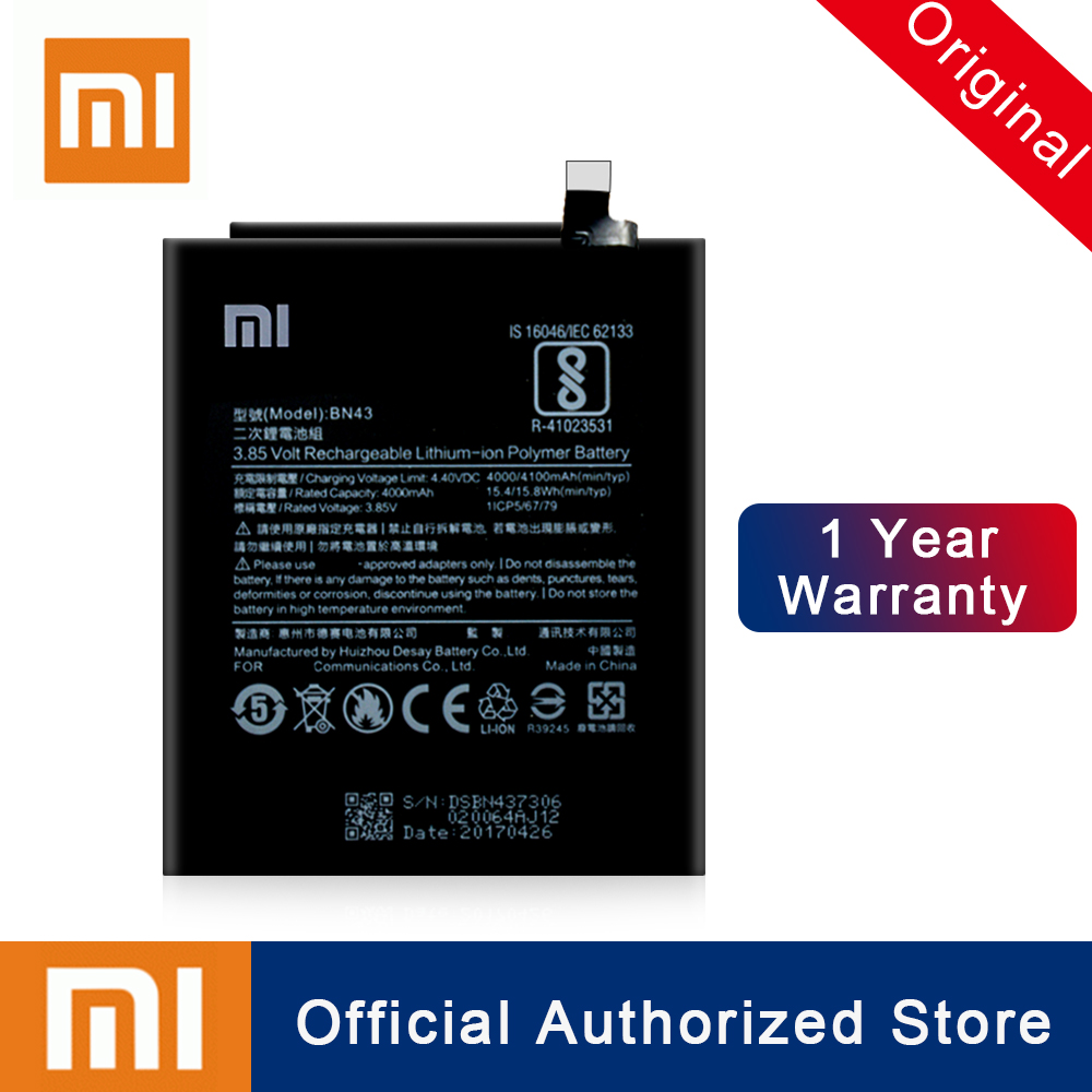 Xiao Mi BN43 For Xiaomi Redmi Note 4X / 4 global Snapdragon 625 Replacement Battery