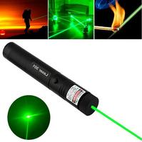 High Power Adjustable Focus Burning 10000mw Green Laser Pointer Pen 301 532nm Continuous Line 500 To