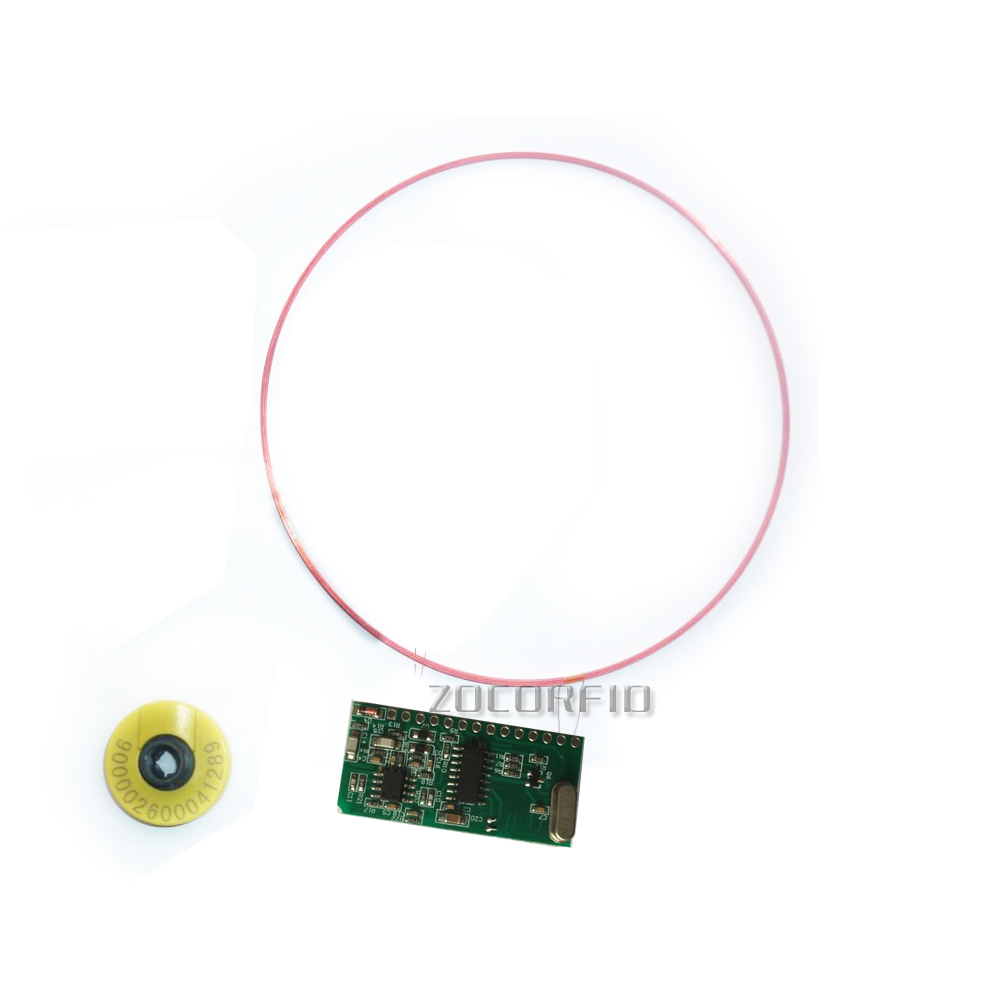 ISO11784 85 FDX HDX 125 134 2KHZ Long distance RFID Animal Tag Reader Module TTL Interface