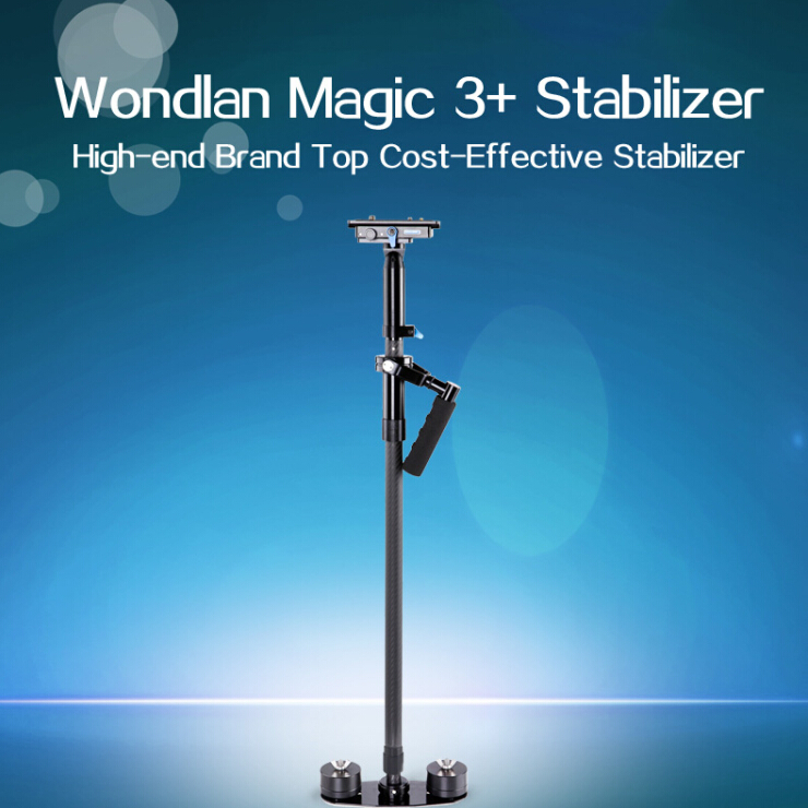 Head adjusting WONDLAN stabilizer MAG105 Carbon fiber handheld steadicam video camera steadycam DSLR steadycam mini jib ashanks mini carbon fiber handheld