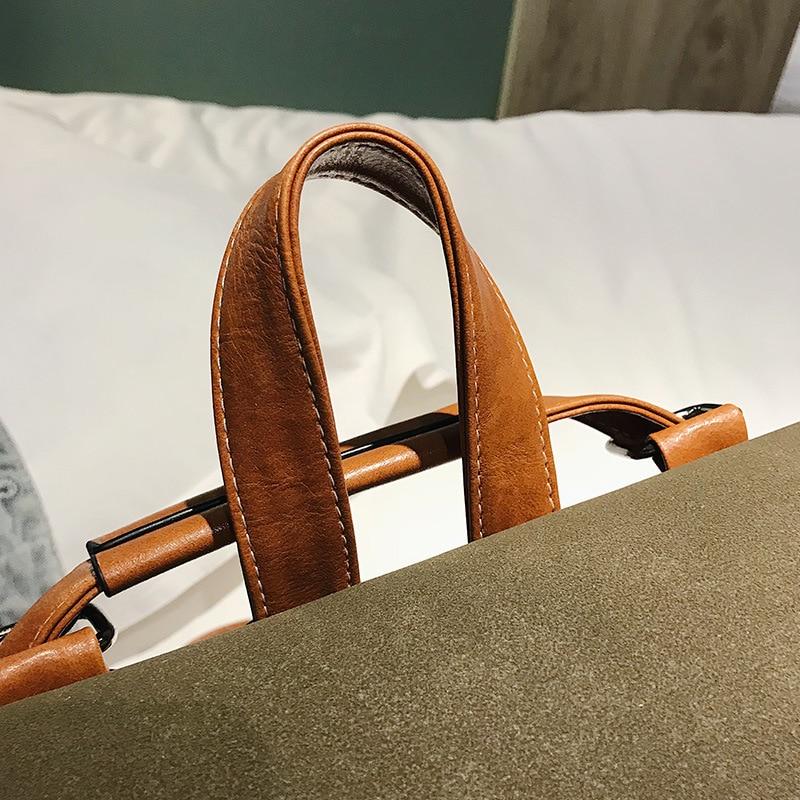 Women's Small Backpack Girl PU Leather Preppy Style School Bag 2019 Fashion Brand Female Vintage Scrub Travel Rucksack for Women (16)