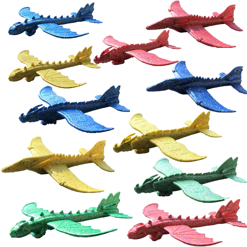 48cm Hand Launch Throwing Glider Aircraft Inertial Foam EPP Airplane Dinosaur Train Dragon <font><b>Plane</b></font> Model Outdoor Educational Toys image