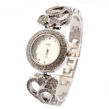 2016 New Luxury Women's Watch Analog Quartz Watches Stainless Steel Band Rhinestone Silver
