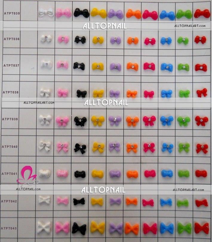 Дизайн ногтей украшения 3D Дизайн ногтей Стикеры 100 шт./лот Смола Coulorful Баттерфляй/цветок/он Книги по искусству/Кролик ect с бриллиантом