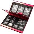 2016 Алюминиевого Сплава Micro для SD MMC TF Карты Памяти Для Хранения Box Protecter Дело 4x для SD Карт 8 х Micro SIM карты