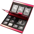 2016 de Alumínio de Liga Micro para SD MMC TF Cartão de Memória De Armazenamento caixa Caso Protetor de 4x para Cartão SD 8 x Micro SIM cartão