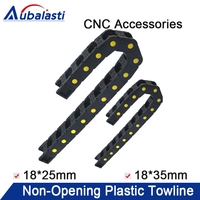 Cable Chains 18x25 18x35 mm Bridge Type Non Opening Plastic Towline Transmission Drag Chain for cnc Milling Machine
