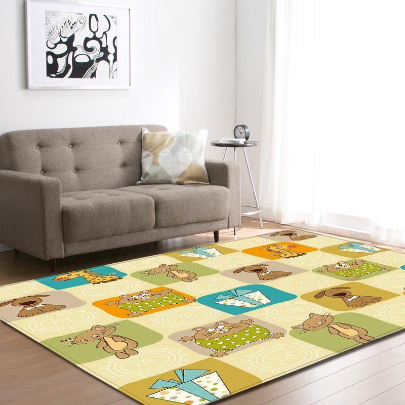 Vintage argent crâne imprimer Floormat tapis anti-dérapant couverture couloir épais enfant jouer tapis Table Pad salon chambre décor à la maison - 2