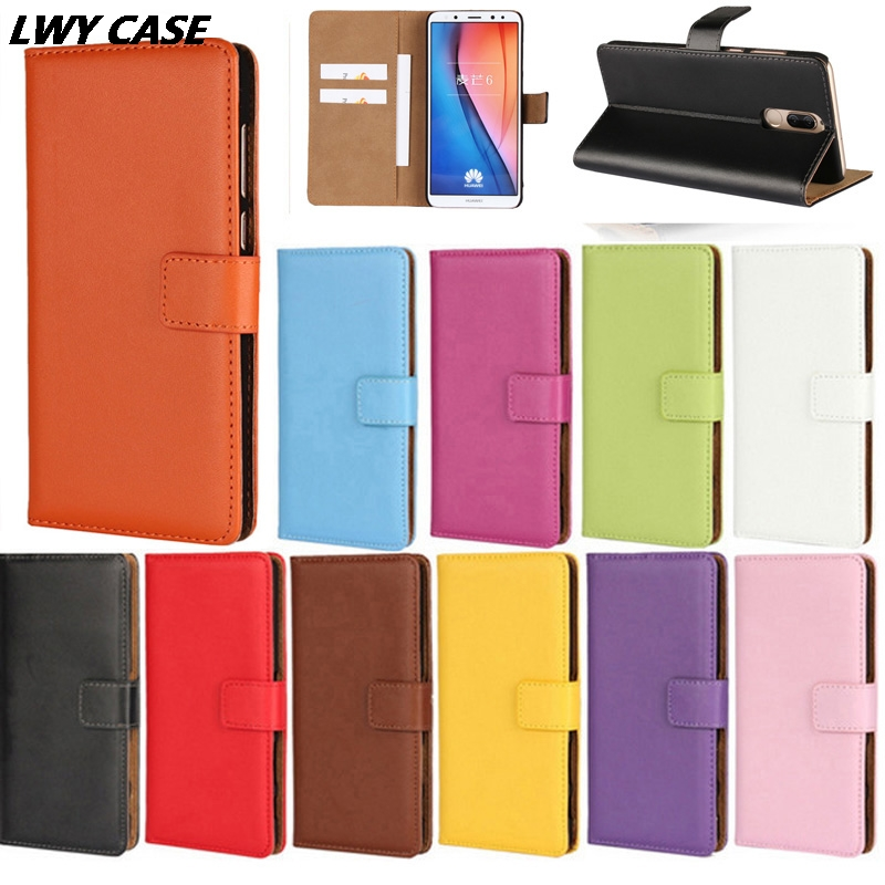 For Huawei Nova 2i / Huawei Mate 10 Lite Luxury Genuine Leather Case Wallet Flip Cover mobile Phone Bags With Card Slots