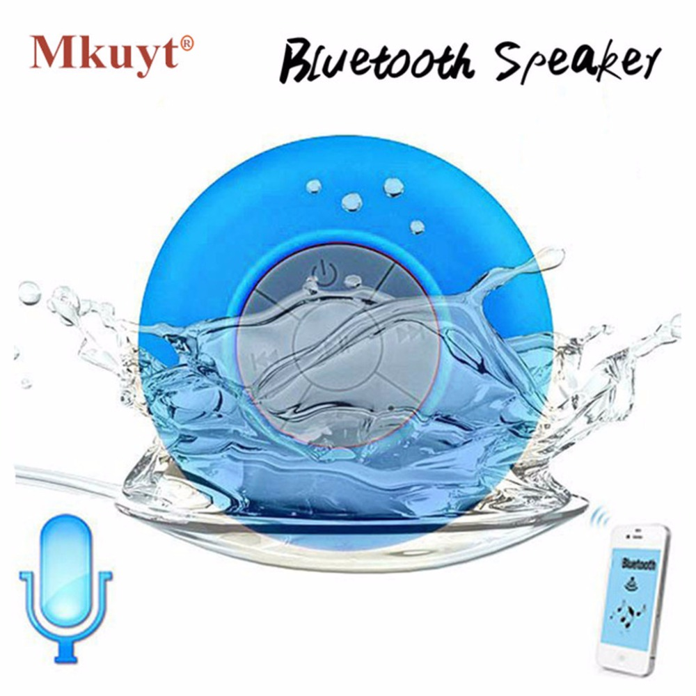 Envío libre mini portátil de subwoofer ducha impermeable inalámbrico Bluetooth coche manos libres recibir llamada música de succión MIC