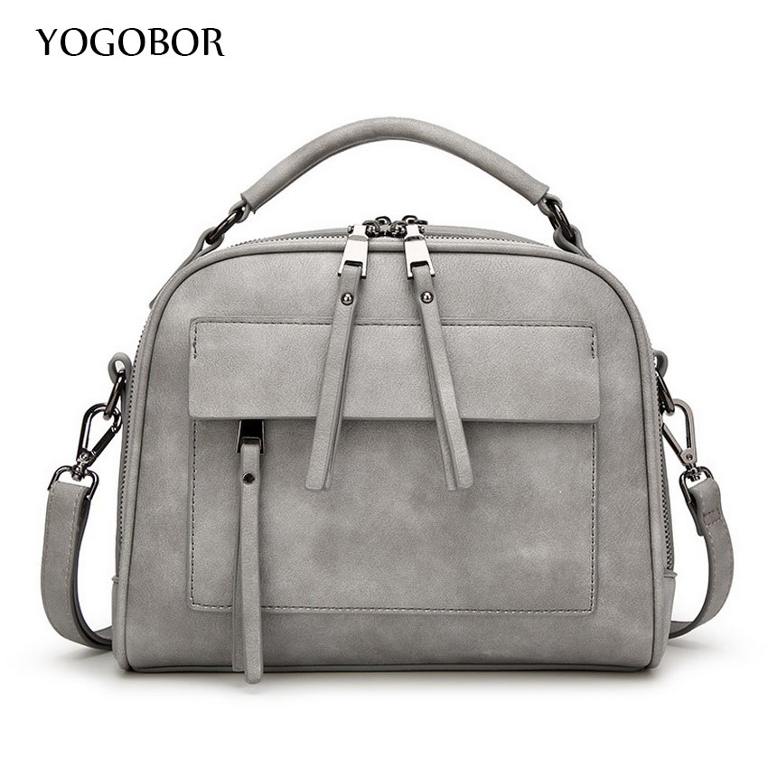 ФОТО YOGOBOR Women Shoulder Bag Candy Colors Fashion Handbags Brand Small Leather Crossbody Bags For Women Messenger Bag Girl Zipper