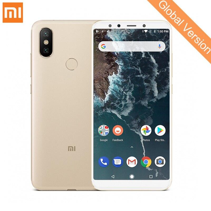 Mondial Version Xiao mi mi A2 4 gb 32 gb Smartphone Snapdragon 660 Octa Core 12MP + 20MP Double Caméra 5.99 FHD Plein Écran Android Un