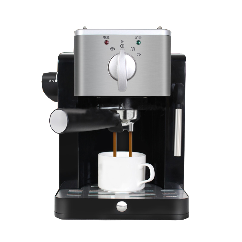 Semi-automatic Espresso coffee machine 15 bar mini-steam coffee machine pump-type high-pressure Italian coffee machine TSK-1827R espresso machine homemade cappuccino commercial semi automatic type steam milk coffee machine tsk 183