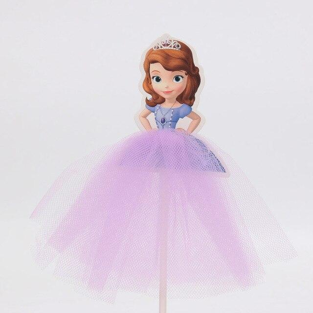 Princesa blanca nieve reina torta Toppers hilado vestido Sofía ...