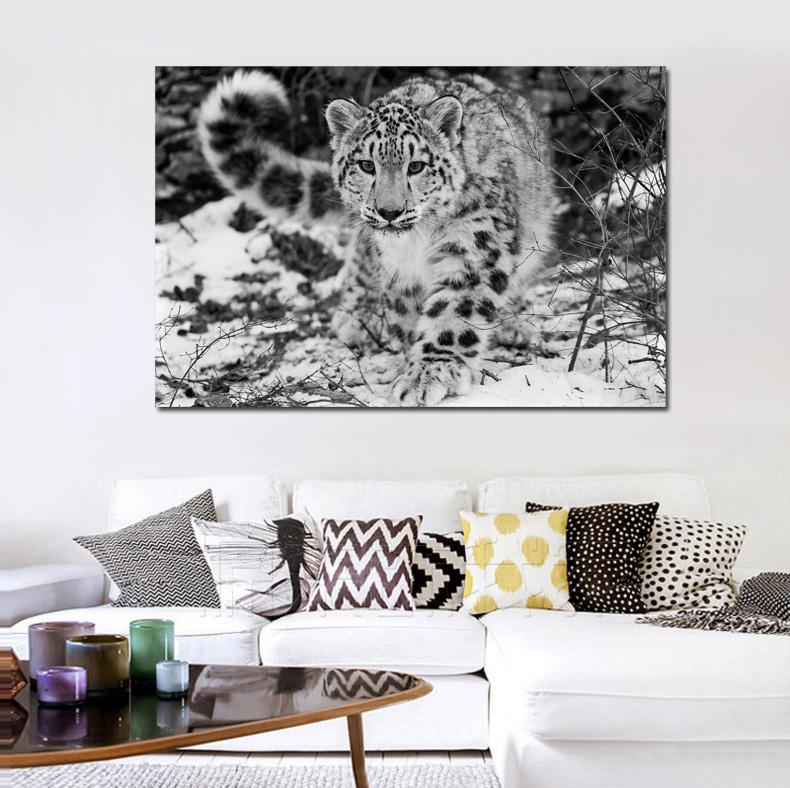 Snow Leopard Wild Animal Wallpaper Living Room Decoration Home Wall