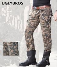Camouflage outdoor tactical pants Uglybros Motorpool Camo Ubs07 Jeans Men motorcycle pants moto protective pants