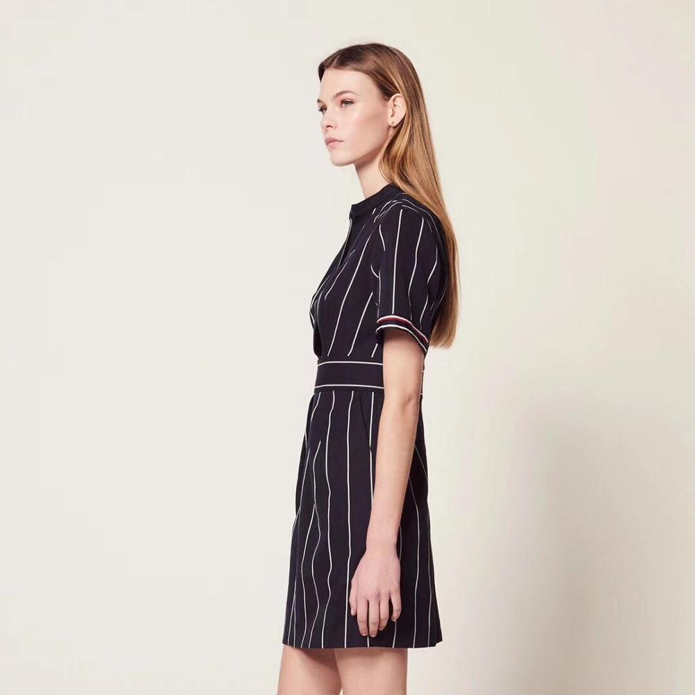 2019 Nuovo Delle Donne Vestito A Righe Slim Fit Manica Corta Estate Mini Vestito-in Abiti da Abbigliamento da donna su  Gruppo 3