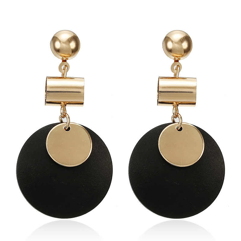 Fashion Red Black Plush Ball Earrings For Women Korea personality Round Tassel Earrings Statement Jewelry Gift