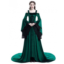 Halloween New Women Princess Dress Girls Gothic Long Sleeved Dress Halloween Costume Cosplay Long S-Xl 2018 New Princess Dress 2018 limited real princess s new woman s dress ribbon chiffon bohemia long skirt and seaside resort