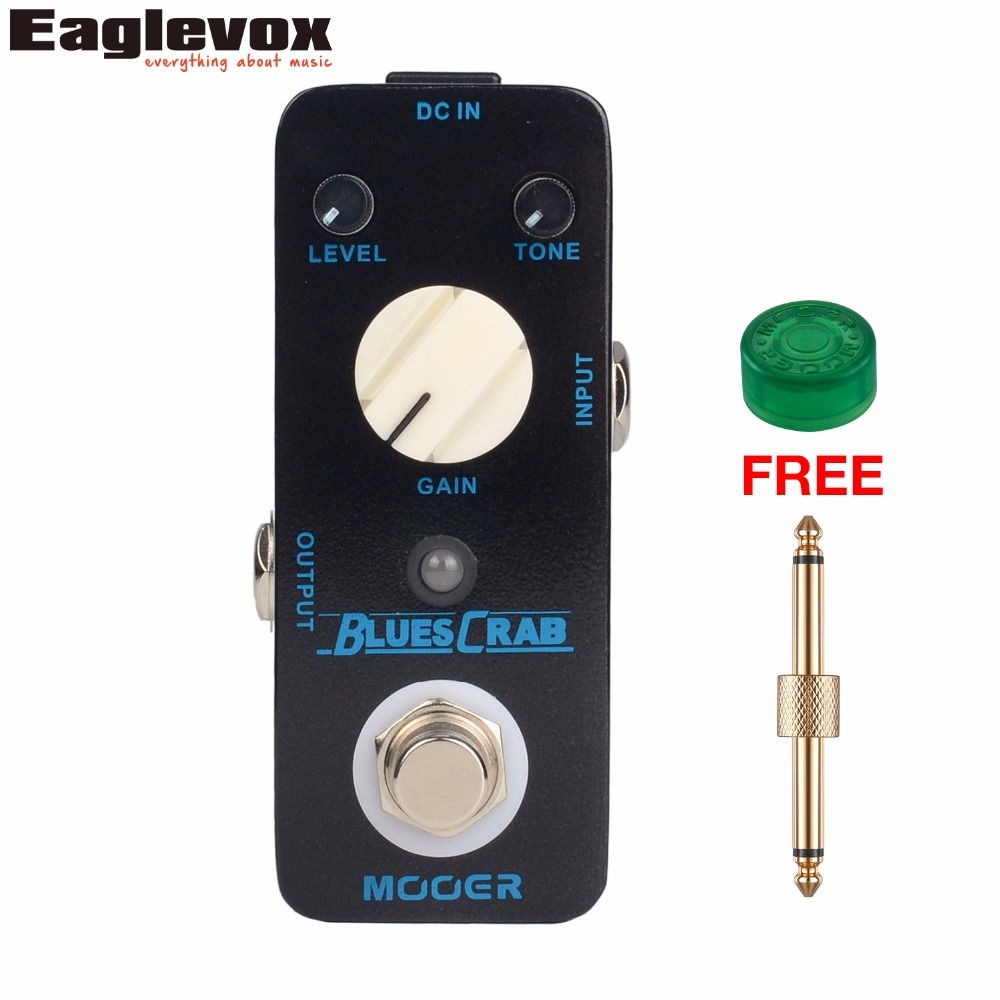Mooer Blues Crab Blues Overdrive Electric Guitar Effect Pedal True bypass with Free Connector and Footswitch Topper MBD1 mooer ensemble queen bass chorus effect pedal mini guitar effects true bypass with free connector and footswitch topper