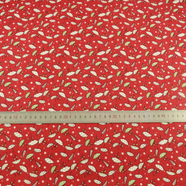Booksew Bianco Bello Ombrello Disegni Tessuto di Cotone Rosso Scuro Pre-cut Fat Quarter Tecido Tessili Per La Casa Tissu Telas di Arte lavoro Vestito