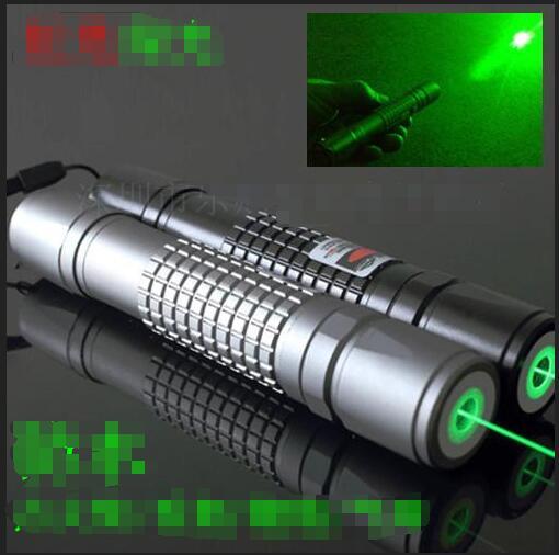 AAA Super Puissant 50000 m 532nm Vert Laser Pointeur SOS LED lampe de Poche Allumette, Pop Ballon, Brûler Cigarette + chargeur + Coffret cadeau