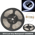 16FT 3014 LED Strip Waterproof 5M 600 SMD White Epoxy IP65 8mm width 12V DC , Led Light Strip brighter than 3528 5050 SMD Strip