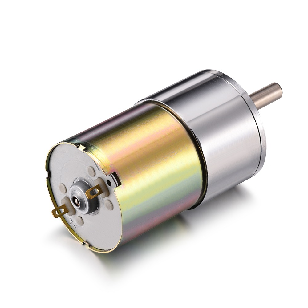12V DC Motor 50RPM Micro Gear Motor Box 37mm Speed Reduction Electric Gearbox Excentral Output Shaft High Torque