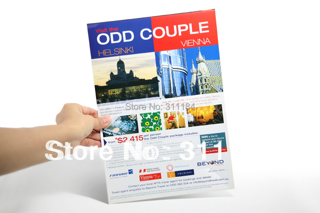 leaflet brochure handbill fly sheet flyer printing with 157gsm