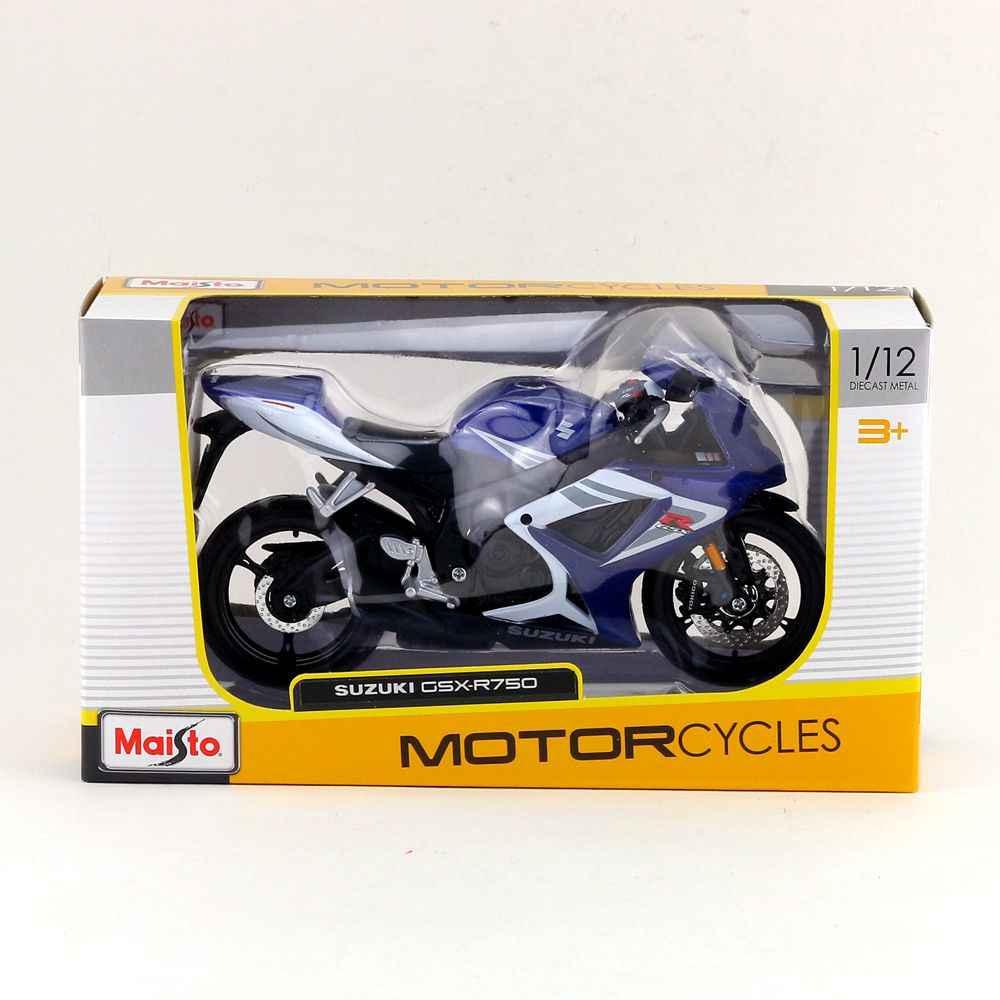 Maisto/1:12 skala/simulasi diecast model sepeda motor mainan/suzuki gsx-r750 supercross/anak-anak mainan halus atau colllection
