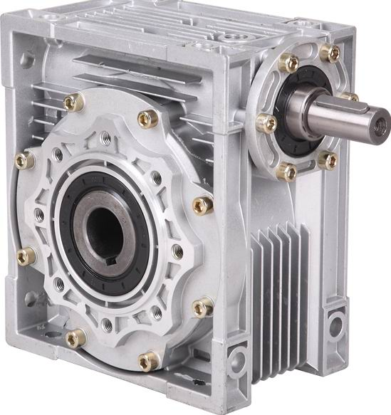 20:1-60:1 NRV90 shaft input worm gear reducer, input hole 24mm  output hole 28mm, hand crank turbine reducer
