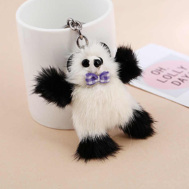 Novo pequeno Chaveiro Mink Pompom moda Acessórios Do Telefone De Pele de Animal De Pelúcia chaveiro Charme Saco chave anel K1254