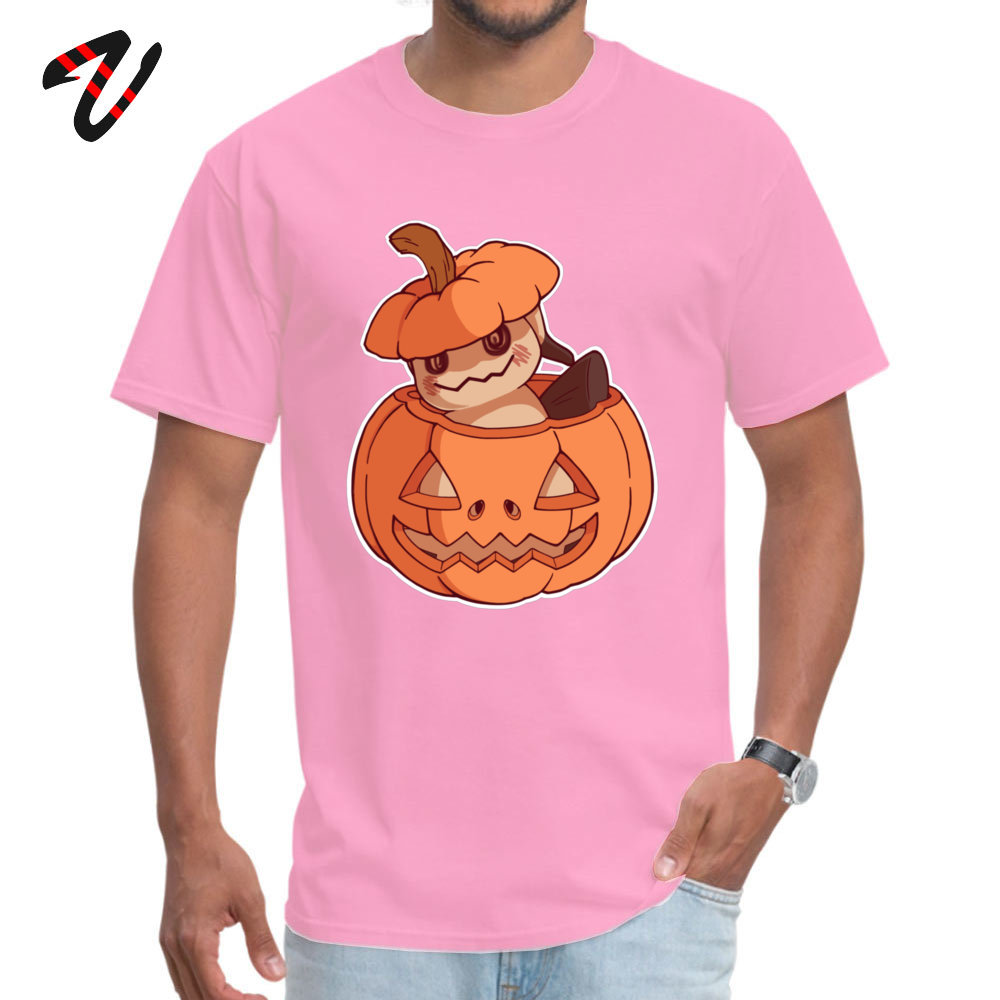 Halloween Mimikyu Normal Top T shirts for Men Pure Cotton Summer Autumn Tops Shirt Clothing Post Malone The Walking Dead in T Shirts from Men 39 s Clothing