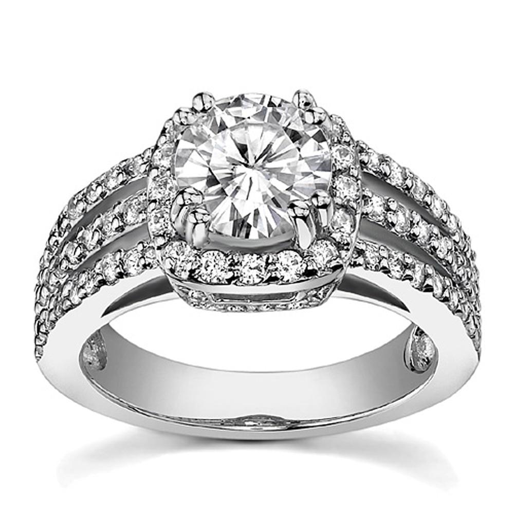 online get cheap 2 carat round halo ring diamond -aliexpress