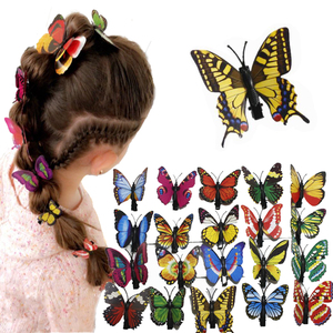 10 pcs popular women girls hairpins 3D butterfly clips for girl hair clip Boutique girls Hair Accessories Easter decoration