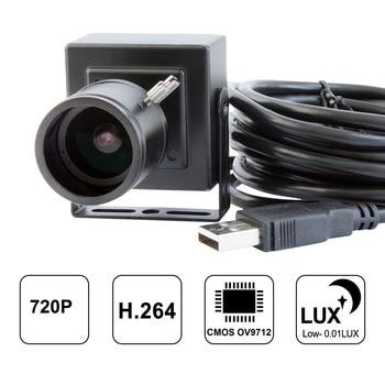 ELP 1280*720p MJPEG/H.264 30fps hd cmos OV9712 2.8-12mm varifocal mini cctv usb camera with audio microphone for PC computer