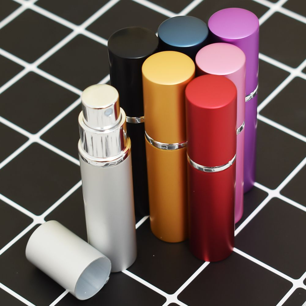 5ML Portable Colorful Glass Perfume Bottle With Atomizer Empty Cosmetic Containers For Travel Spray bottles