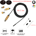 5.5mm Lens 10M USB Endoscope Android OTG Phone Endoscopio 2IN1 Mini Endoscope Camera Waterproof Inspection Android Camera