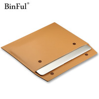Newest Premium Real Ultrathin Genuine Leather Envelope Sleeve Bag Case Cover Pouch For MacBook Air 11