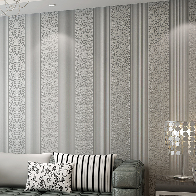 Beibehang European simple vertical stripes 3D wallpaper wallpaper living room bedroom restaurant decoration wall wallpaper roll beibehang shop for living room bedroom mediterranean wallpaper stripes wallpaper minimalist vertical stripes flocked wallpaper page 8