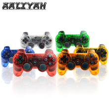 Controller Joystick Bluetooth Gamepad For PS3 Controller Games Console Clear Crystal Color Playstation Vibration ps3 Bluetooth цена
