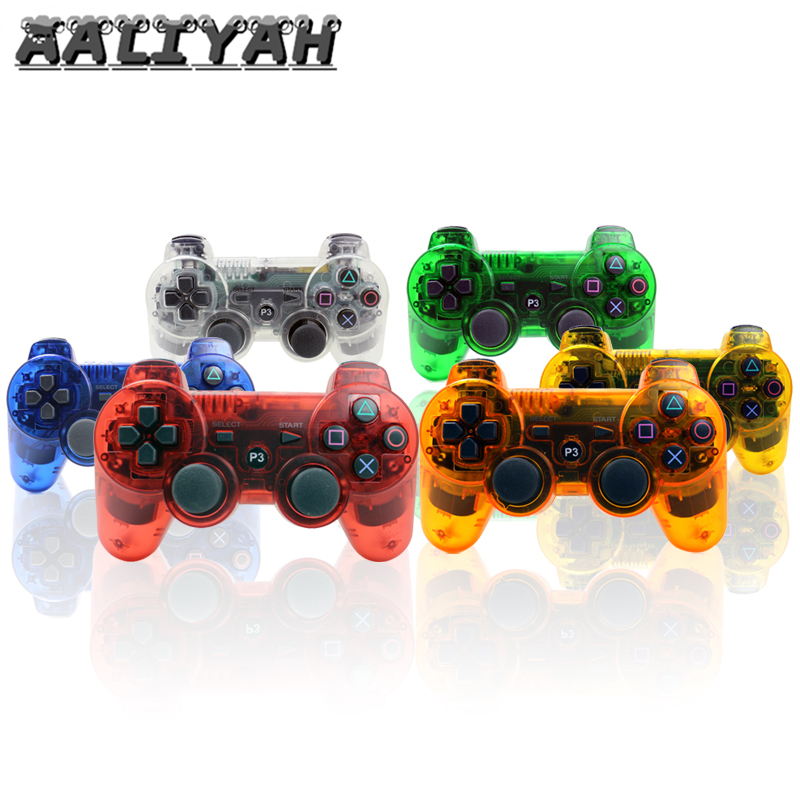 For Playstation 3 Controller Joystick Bluetooth For PS3 Games Console Clear Crystal Color Vibration ps3 Bluetooth Gamepad in Gamepads from Consumer Electronics