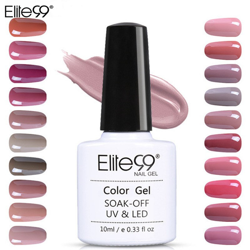 Elite99 10ml UV Gel Nail Polish Nude Color Nail Gel Polish Vernis Semi Kekuningan Nail Primer Gel Varnishes Gel Lak Lacquer